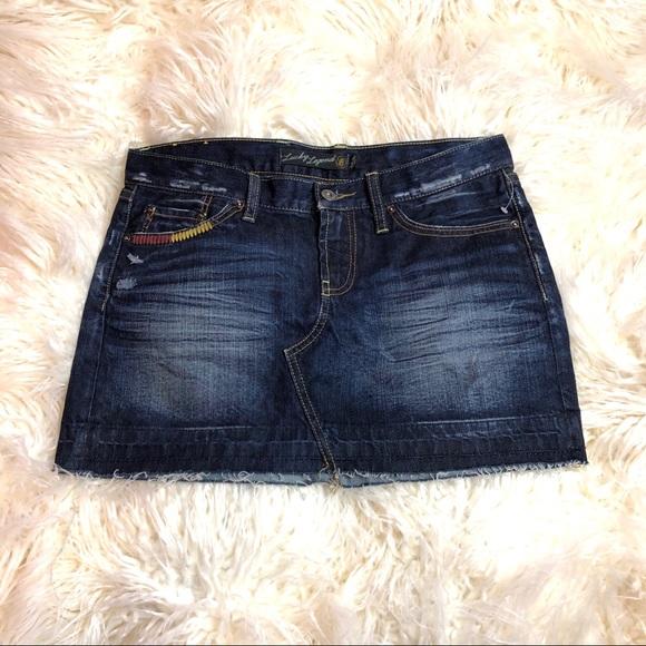 Lucky Brand Dresses & Skirts - New Lucky Brand Denim Blossom Mini Skirt Size 4